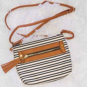 Handbags - Stripped Crossbody Purse